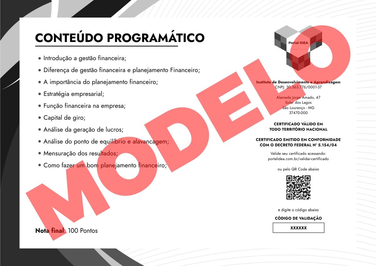 Modelo Certificado Verso